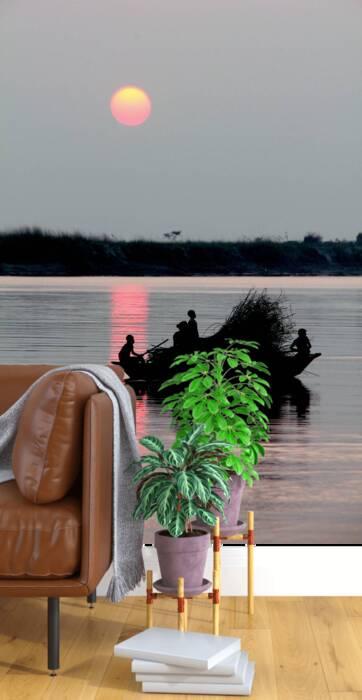 Puesta de sol en Bangladesh
