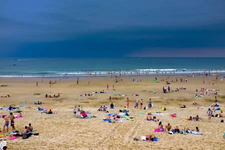 Orage sur plage