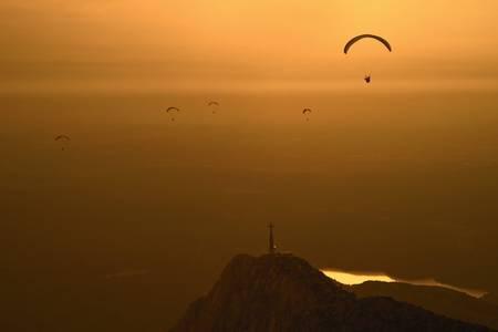Paragliding on Sainte-Victoire