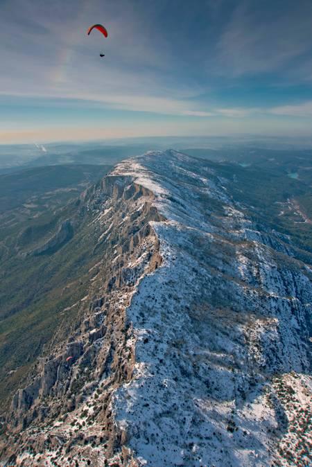 Sainte Victoire Lendemain de neige