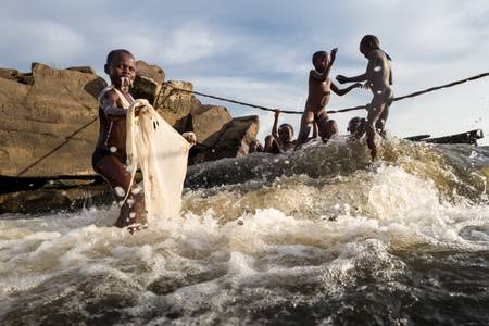 Les chutes Wagenia à Kisangani
