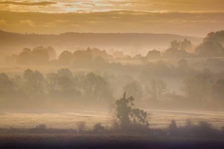 pays d auge matin d automne