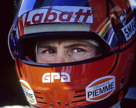 Gilles Villeneuve Gros plan