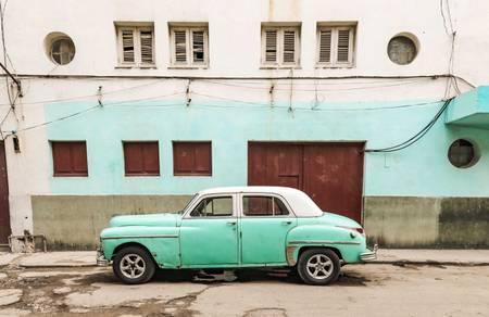 Havana - Cuba Vintage Car - Turquoise