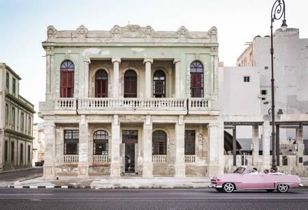 Havana - Cuba Vintage Car -Pink