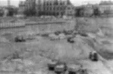 Digging of the Forum des Halles 1970