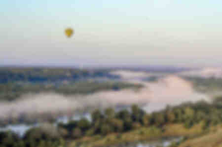 The Loire and the hot air balloons