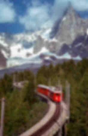 Montenvers tåg och Aiguille des Drus