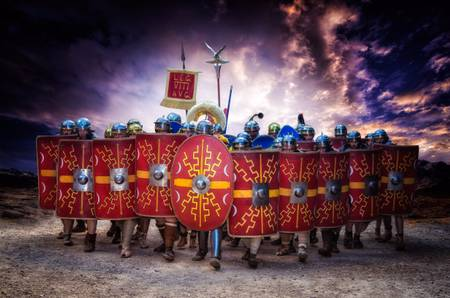 Faced with the Roman legion