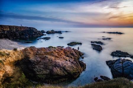 La pointe du Castelli Le coucher de soleil