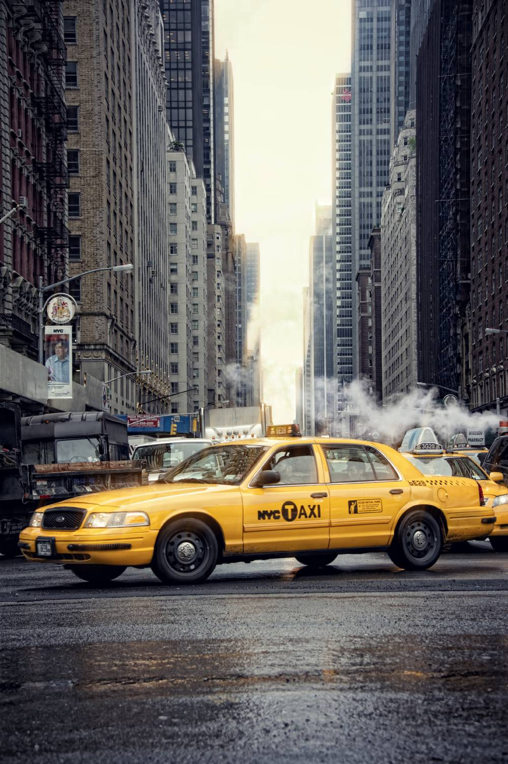 Taxi Jaune A New York