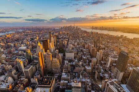 Sunset on New-York