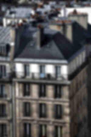 Parijs gebouw en dak
