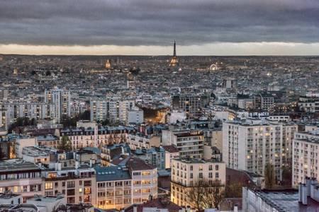 Paris crepuscule horizontal