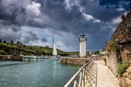 Port de Sauzon et son phare