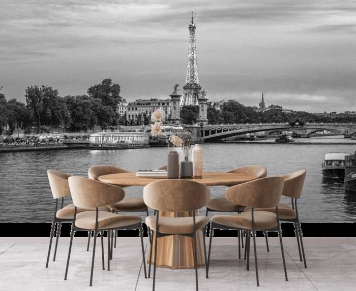Eiffelturm und Alexandre-III-Brücke