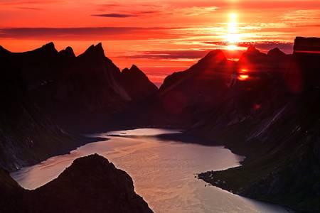 Midnight Sun in the Lofoten islands
