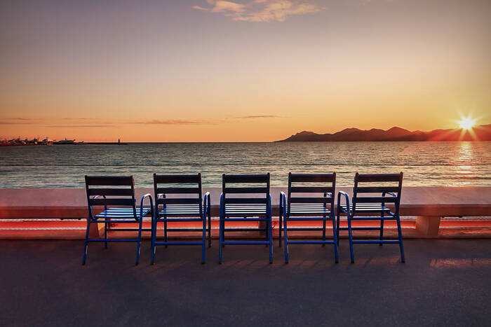 Cannes Croisette Sunset