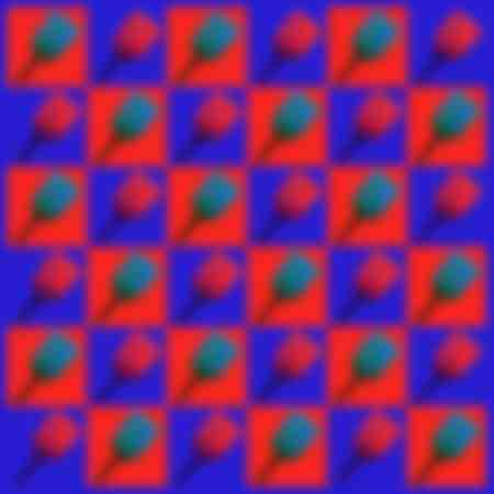 tulipe en folie rouge bleue 36