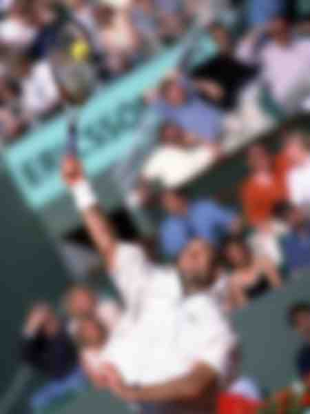 Agassi at Roland Garros