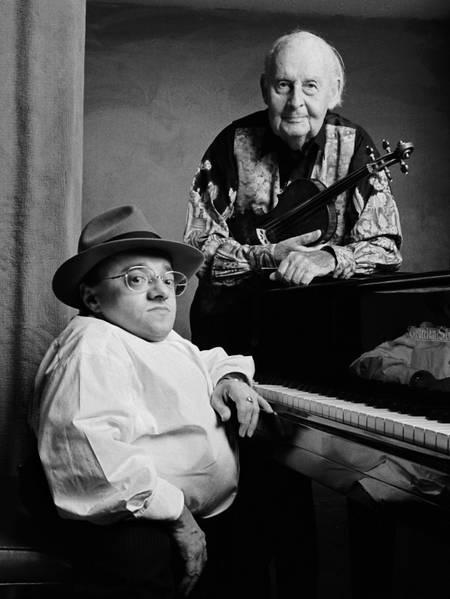 Stéphane Grappelli et Michel Petrucciani