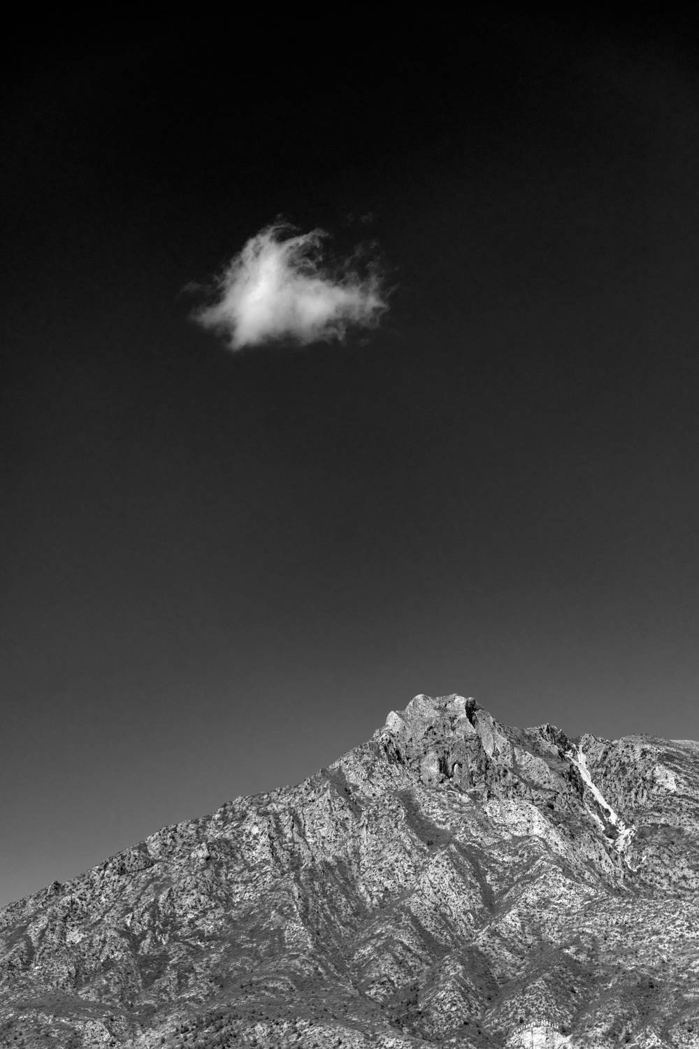 The mountain and the cloud