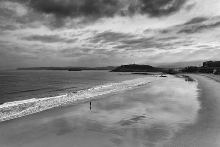 Alone on the beach in Santander