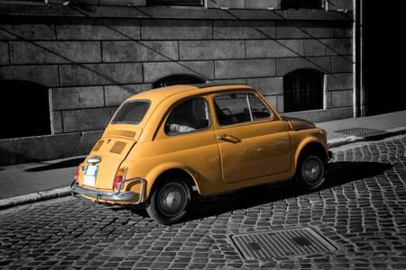Vintage italian car in Rome