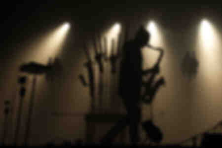 Saxophonist in backlight