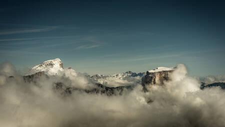 Le Grand Veymont et le Mont Aiguille