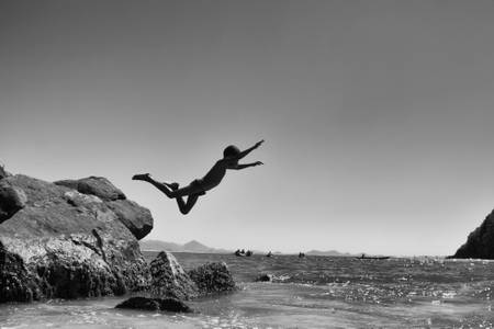 Jump from the rock