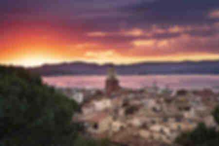 Sonnenuntergang in Saint-Tropez