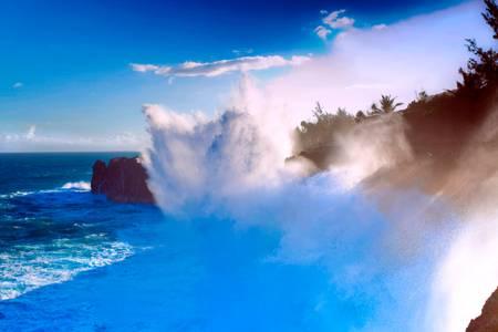 Très grosses vagues Cap Méchant