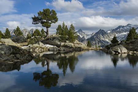 el resplandor de la montaña