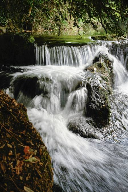waterfall in the Bourne Gorge
