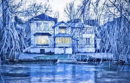 La maison bleue bord de marne