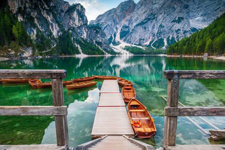 Barche e pontone