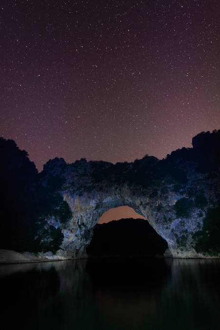 A night at the Pont d'Arc