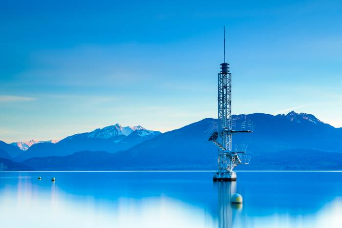 Fin De Journee Sur Le Lac D Annecy