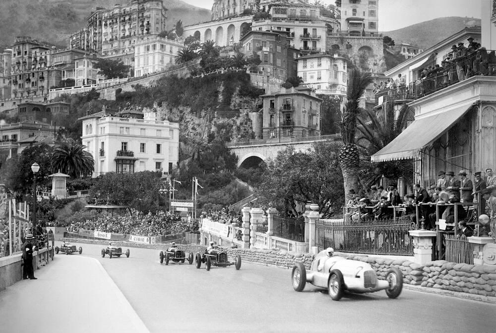 Course Automobile A Monaco Entre 1930 Et 1950