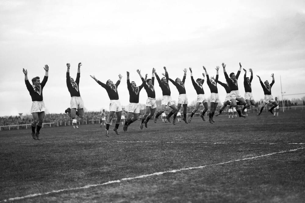 Match De Rugby France Contre Nouvelle Zelande En 1951
