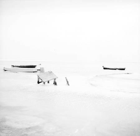 Bassin d'Arcachon in winter 1956