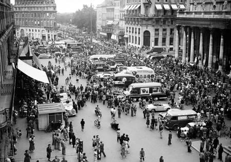 Départ de Bordeaux sur le Tour 1954