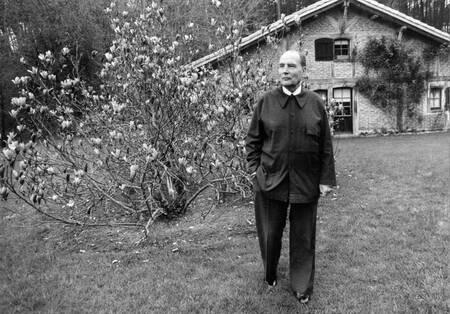 François Mitterand à Latche en avril 1988