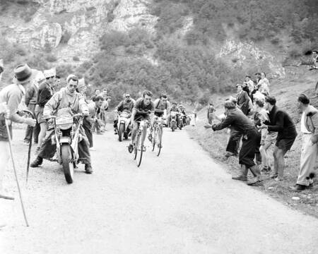 Louison Bobet and Charly Gaul on the 1955 Tour