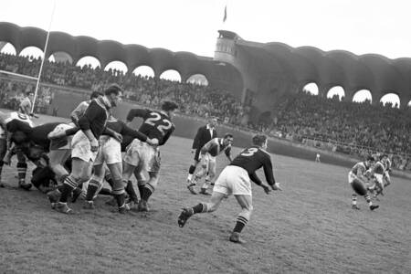 Rugby match France vs New Zealand in 1951