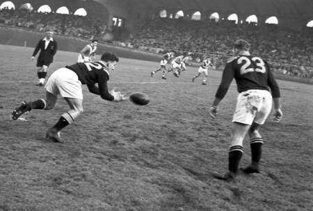 Rugby France contre Nouvelle Zelande en 1951
