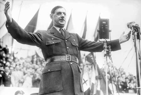 Visite du général de Gaulle à Bordeaux en 1947