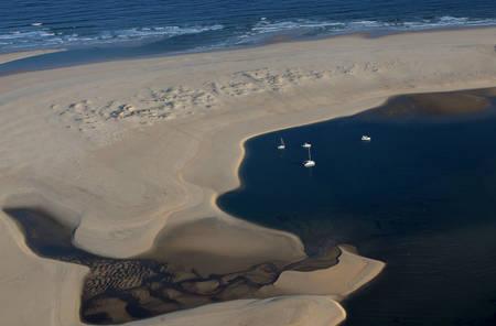 Vue aérienne du banc d'Arguin 2