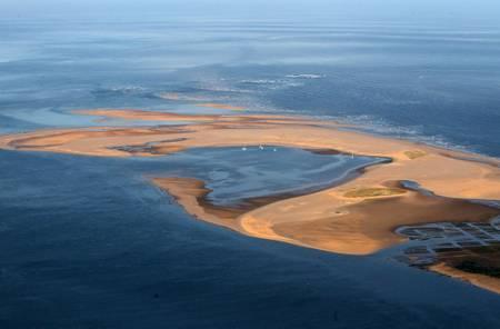 Vue aérienne du banc d Arguin